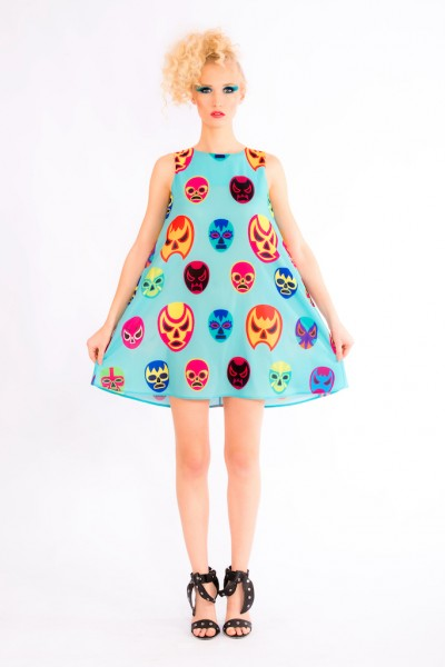 Lucha Masks Dress