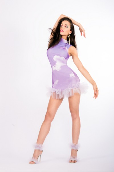Heaven Lilac Touille Dress